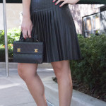 Faux Leather Pleat Dress